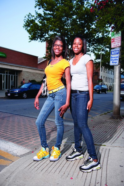Beacon: Kayla Turner and Shanice Hughes. - JENNIFER MAY