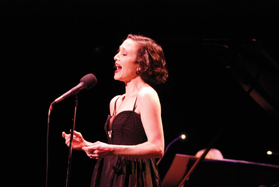 Bebe Neuwirth performing at the Bardavon in Poughkeepsie on March 3. Photo: Susan Fino.