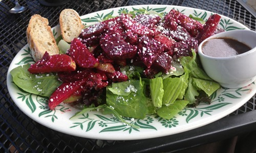 Beet Apple Curry salad at Homespun Foods