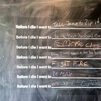 """Before I Die Project"" at Oriole 9 in Woodstock"
