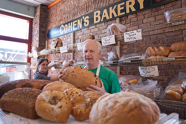 Bill Tochterman and Megan Nolan at Cohen's Bakery in Ellenville. - ROY GUMPEL