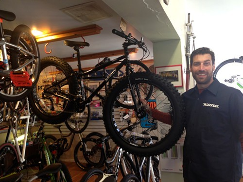 Billy Denter, owner of Overlook Mountain Bike and a Surly fat bike