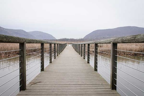 Boardwalk at Constitution Marsh Audubon Center and Sanctuary.