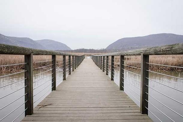 Boardwalk at Constitution Marsh Audubon Center and Sanctuary.