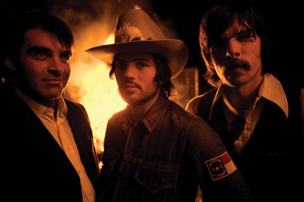BOB CRAWFORD, SCOTT AVETT, AND SETH AVETT OF THE AVETT BROTHERS, WHO WILL BE PERFORMING AT MOUNTAIN JAM IN HUNTER THE WEEKEND OF JUNE 4. PHOTO BY CRACKERFARM