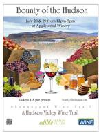 Bounty of the Hudson hosted at Applewood Winery in Warwick, July 28-29. - July 14