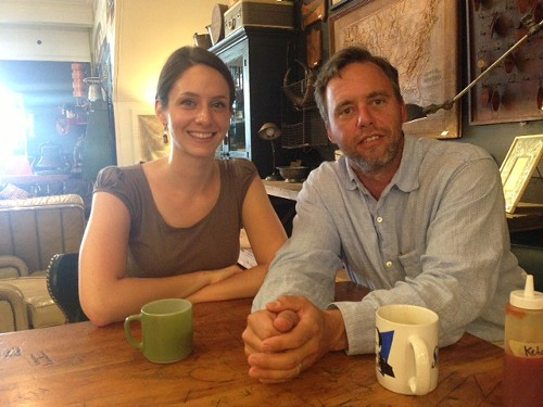 Brian Mahoney and Jennifer Gutman of the Chronogram at Outdated Cafe