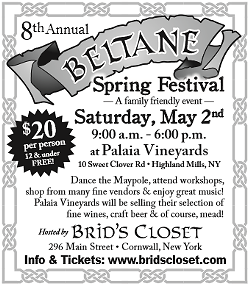 BERNADETTE MONTANA - Brid's Closet's 8th annual Beltane/Spring Festival