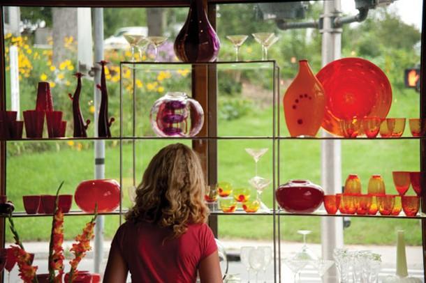 Browsing at Gilmor Glass in Millerton.