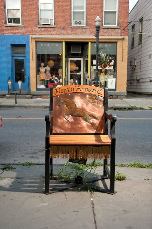 "Bruce Snyder's contribution to the ""Sittin' Around Saugerties"" exhibition."
