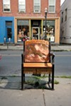 """Bruce Snyder's contribution to the """"Sittin' Around Saugerties"""" exhibition."""