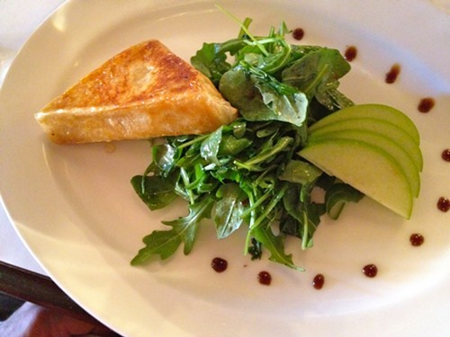Camembert wrapped in phyllo at Brasserie 292