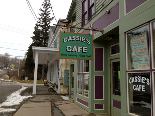 Cassies Cafe on Main Street in Roxbury