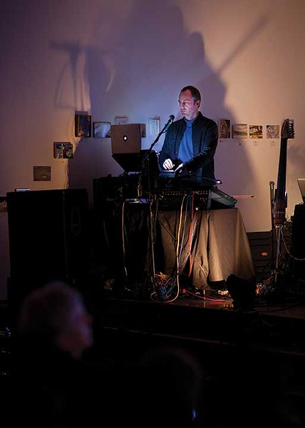 Charles Lindsay performing Trout Fishing in Space at the Center for Photography at Woodstock on December 10. - PHIL MANSFIELD