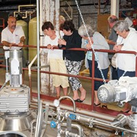Newburgh Charlie Benedetti, partner at Newburgh Brewing Company, leads a tour of the brewery. Anne Cecille Meadows