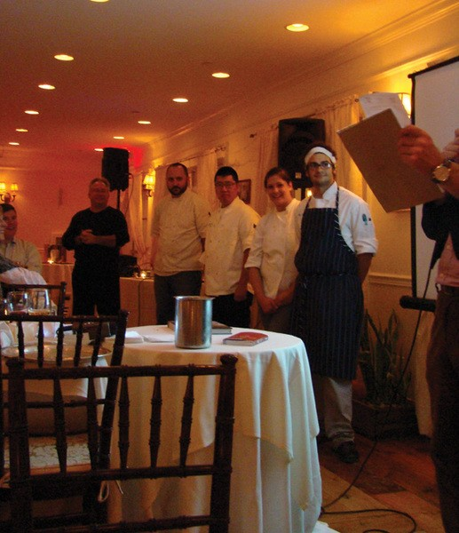 Chefs competing in Iron Grad II: The Return at the Rhinecliff Hotel on November 16. - RICH  GOLDSMITH