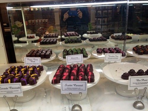 Chocolate double vision at Oliver Kitas Chocolates in Rhinebeck