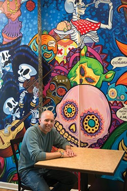 Chris Karas at Tito Santana Taqueria in Beacon - ROB PENNER