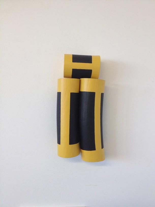 """Christina Tenaglia, """"Untitled"""", 2013, wood, paint, nails, 5 ½ x 3 x 11 ½"""""""