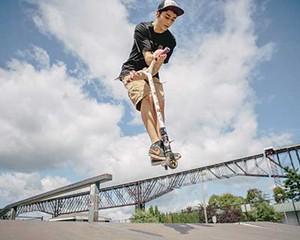 Christopher Connors at the Poughkeepsie Skatepark.
