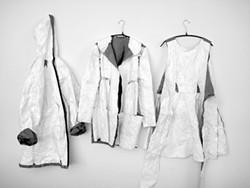 Coat with hood, Ruffle Flac Jacket, Wrap Dress. Photo by Mau. - NANCY DONSKOJ