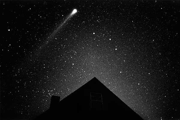 Comet Hyakutake, 03/24/96 4:20am, Martha's Vineyard, silver gelatin print by Stephen DiRado