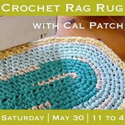 HODGEPODGE FARM - Crochet Rag Rug Workshop at Drop Forge & Tool