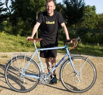 Cyclist and author Nick Hand