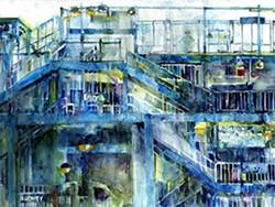 DORRIE RIFKIN - Da Subway, watercolor by Dorrie Rifkin