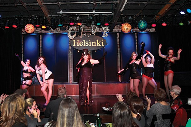 Dame BB Kink, Dame Rosie Buds, Ophelia Nightly from Charmed and Dangerous, Dame Shirley Divine, Dame Lacie Bottoms, and Dame Miss Bliss performing at Club Helsinki. - KATHERINE WRIGHT   YTK PHOTOGRAPHY