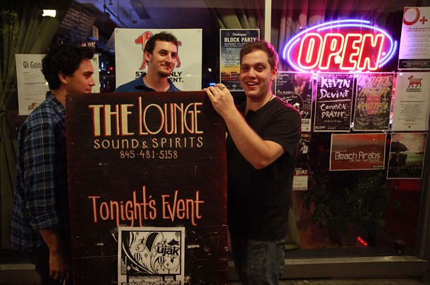 Dan Sternstein and friends outside BSP Lounge in Uptown Kingston. - ERIC FRANCIS COPPOLINO