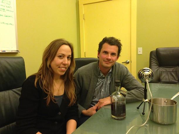 Designer Carla Rozman and Hetta Glogg owner Darren Davidowich