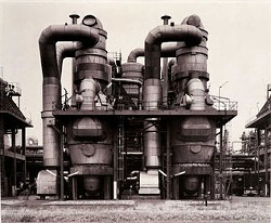 BERND AND HILLA BECHER. PLANT FOR STYROFOAM PRODUCTION, WESSELING NEAR COLOGNE, GERMANY, 1997. © BERND AND HILLA BECHER.