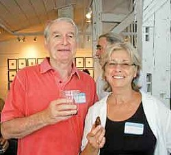 Dick and Joy Moore at the Chronogram mixer at Photosensualis in Woodstock on July 7. Photo by David Morris Cunnigham.