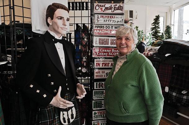 Doreen Browning at the Kiltmaker's Apprentice in Highland. - DAVID MORRIS CUNNINGHAM