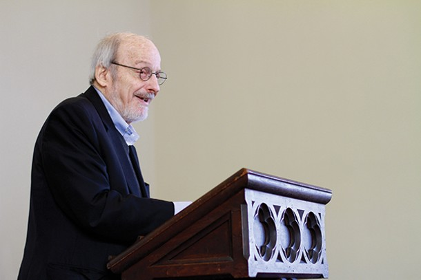 E. L. Doctorow reads in Cold Spring's Sunset Reading Series at the Chapel of Our Lady - Restoration on May 5.