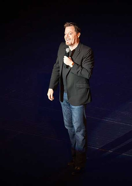 Eddie Izzard making people laugh at the Bardavon on February 16.