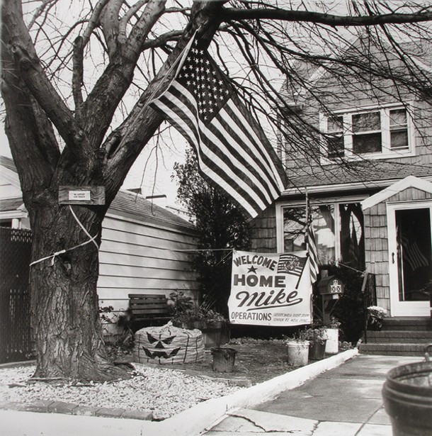 "Edward Coppola, ""Welcome Home Mike,"" gelatin sliver print, 1991"