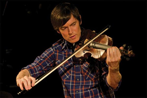 Electro-violinist Zack Brock at the Falcon in Marlboro on December 5. - JAMESRICEPHOTOGRAPHY.COM