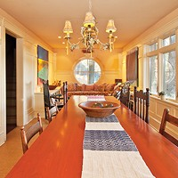 A Craftsman's Home in Rosendale Elongated dining room Deborah DeGraffenreid