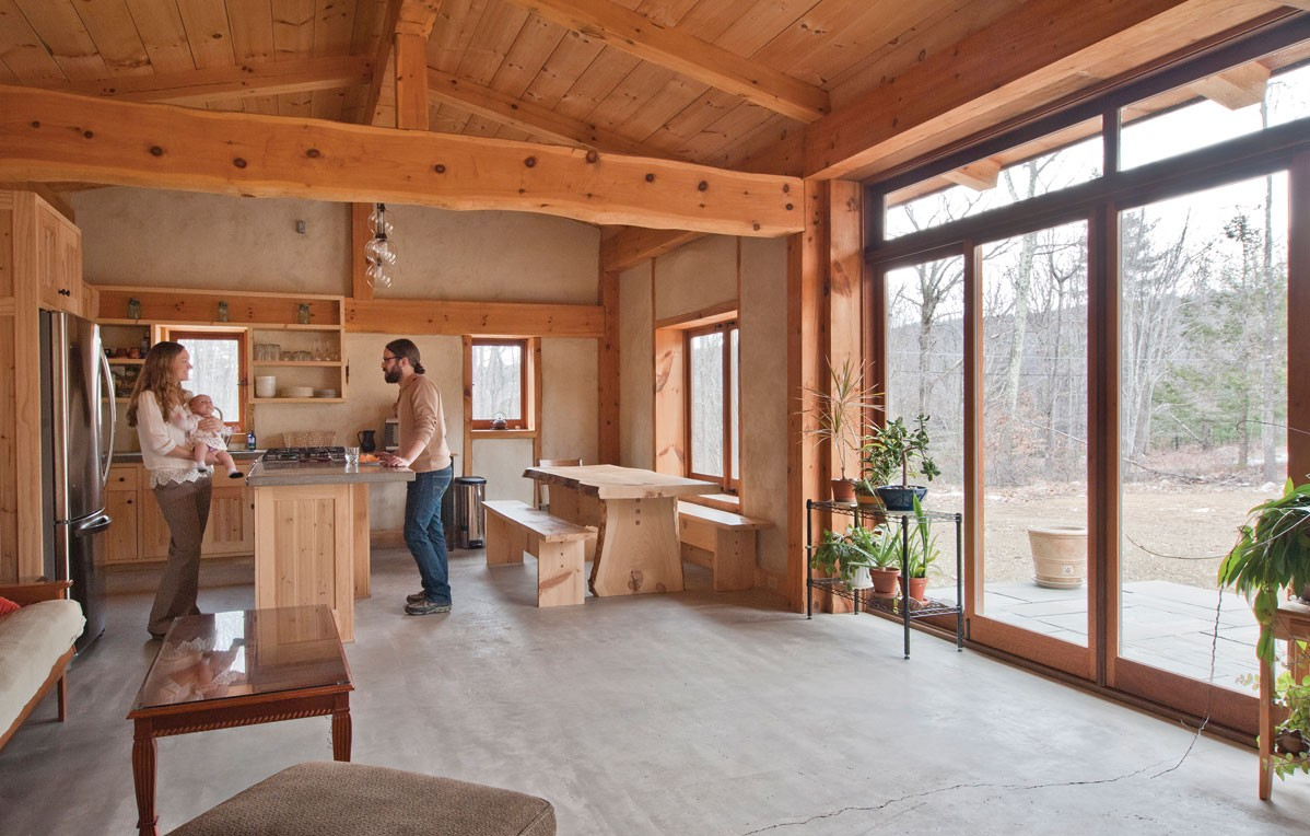The first straw house profiles hudson valley hudson for Timber frame straw bale house plans