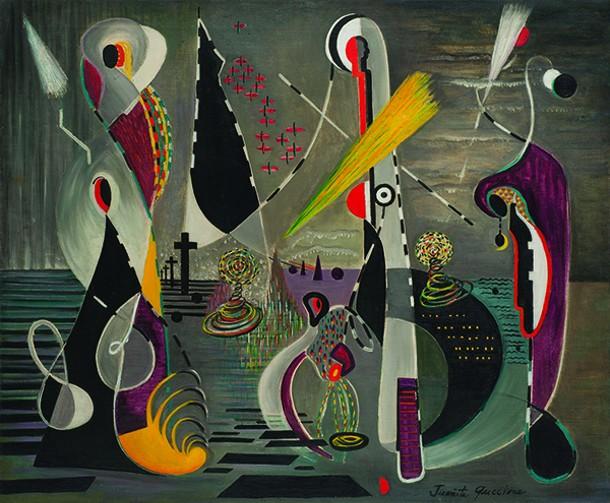 """Europa, Juanita Guccione, oil on canvas, 28.25"""" x 34"""", 1939."""