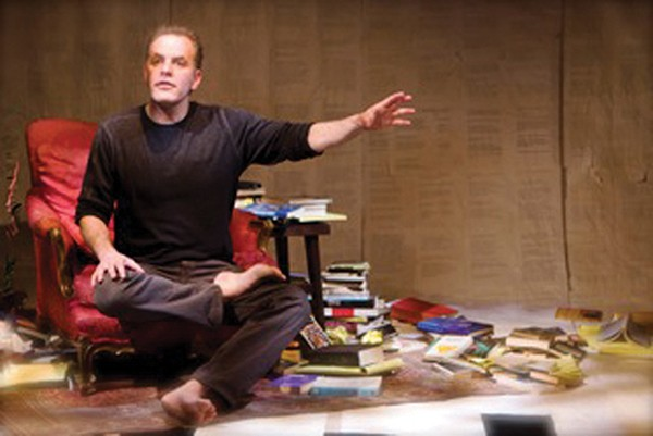 Evan Brenner presents his one-man show at the Zen Mountain Monastery on July 14.