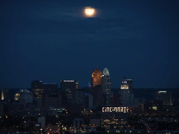 Full Moon over Cincinnati on August 31, 2012 - NASA/BILL INGALLS