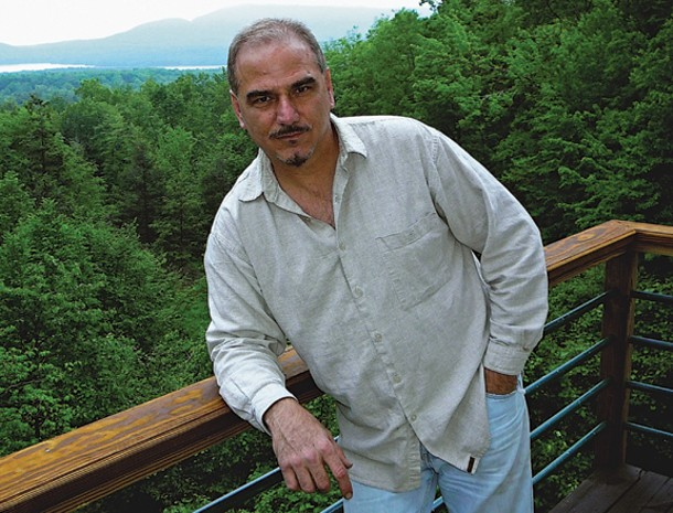 GEORGE TSONTAKIS AT HIS ASHOKAN HOME. PHOTO BY DAVID LUDWIG.