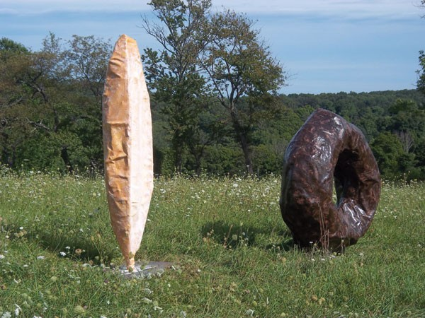 "Give Us Bread, Richard Brachman, fiberglass, resin, steel. Brachman's sculptures are part of the Collaborative Concepts' ""Farm Project"" exhibit at Saunders Farm in Garrison."