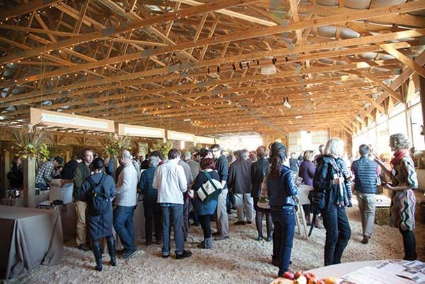 Glynwood's 2011 Apple Exchange included a trade tasting of products from the Le Perche region of Normandy, France. It was held in Glynwood's barn in October of 2011. - SARA FORREST