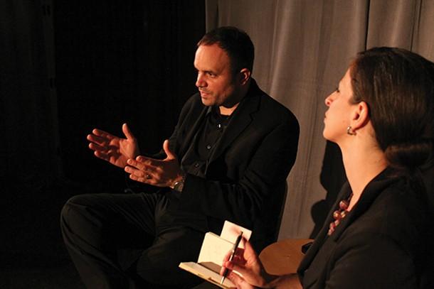 "Greg Skura and Summer Corrie in ""Sight Unseen"" at Tangent's Carpenter Theater in Tivoli."
