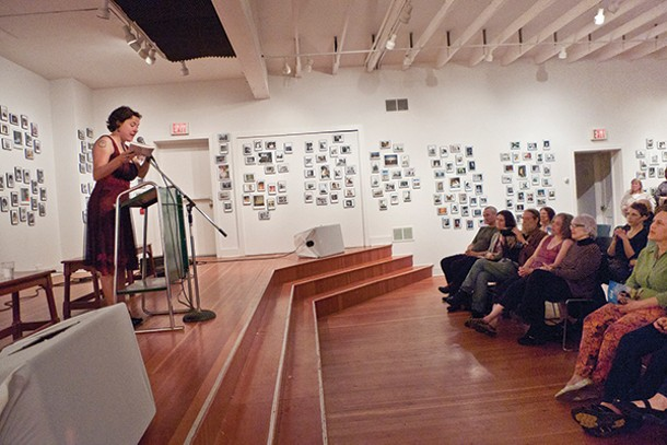 Gretchen Primack reads from her new book of poetry Kind at the Kleinert/James Arts Center in Woodstock on May 11.