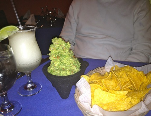 Guacamole is made table-side and piled high at Gabys Cafe in Rhinebec